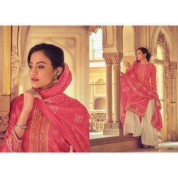Straight Stitched Ladies Jaipuri Print Cotton Suit, Handwash
