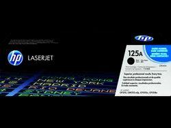 HP 125A Black Original LaserJet Toner Cartridge (CB540A)