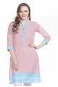 Sritika Pink Cotton Printed Kurti