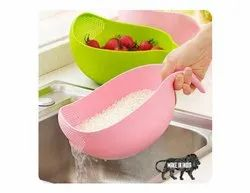 Rice Bowl, Rice Strainer Bowl, Washing Bowl Strainer   4 in 1 Peeler-Rice bowl