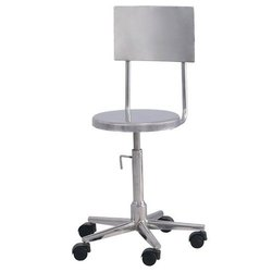 Revolving Stainless Steel Chair