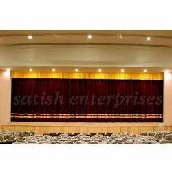 Maroon Motorized Velvet Curtain System