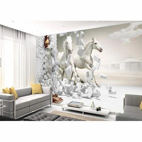 White Wall Decorative 3D Wallpaper