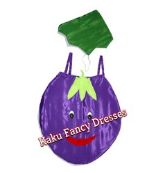 Kids Smiley Brinjal Cutout Costume