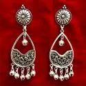 Oxidized Ghungroo Earrings