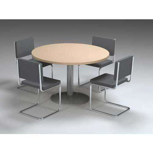 Brown And Grey Round Table With Chair Rs Set Lohia Visuals - Round office table and chair sets