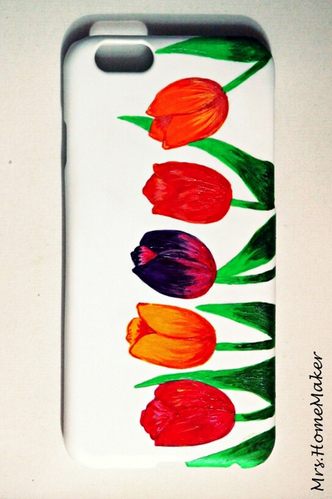 sports shoes 8d065 e2c5e Tulips Hand Painted Phone Case