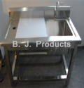 SS Vegetable Cutting Table with Sink
