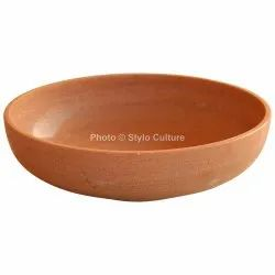 Stylish Light Pink Sandstone 12 Inch Fruit Bowl