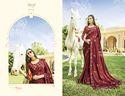 Degsiner  Fancy  Maron Ethnic Sarees