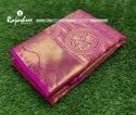 Wedding Wear Pink Pure Silk Saree, 6 M (with Blouse Piece)