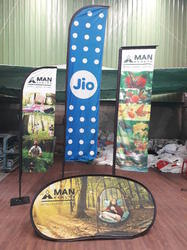 Polyester Digital Printing On Both Side Promotional Banner Manufacturer, Size: 4 Feet To 8 Feet