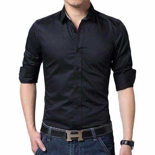 Men Black Shirt at Rs 550 /piece | Uttam Nagar | Delhi | ID ...