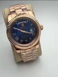 Analog Rolex men's chain watch