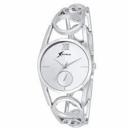 Round Analog Ladies Rich Club Analogue Silver Dial Watch