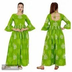 Ladies Green Floral Kurti