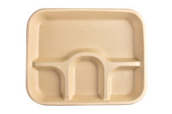 4 CP Tray Bagasse Meal Tray