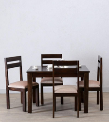 Four Seater Dining Set In Warm Chestnut Finish