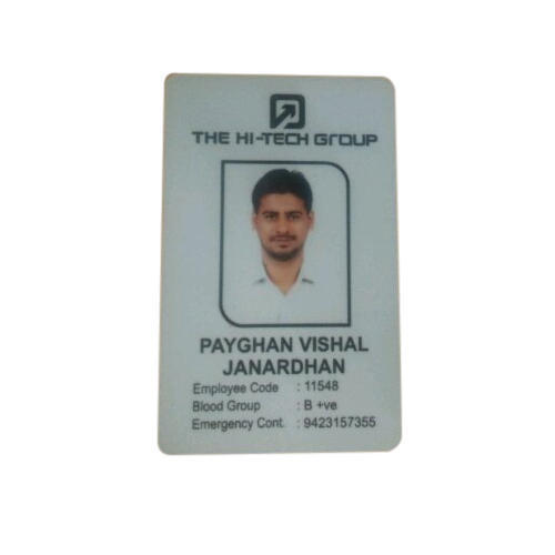 Pvc Card Shrushti Cards Rectangular And 20375732462 Id piece Rs 20 Office Id Printers