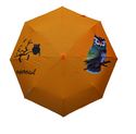 Solid Color With Owl Screen Logo Printed Umbrella