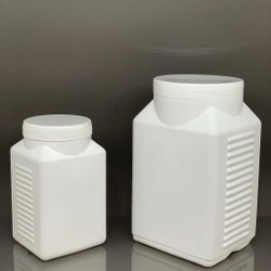 HDPE Ribbed Square Jar