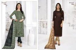 Pranjul Priyanka Unstitched Cotton Printed Salwar Suit