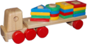 Red And Green Pulling Shape Sorting Truck