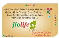 Garcinia Cambogia Garlic Ginger Root Extract Ginkgo Biloba Ginseng, Green Tea Extract Grape Seed Ext