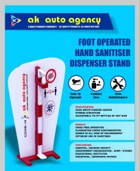 Foot Operated Hand Sanitizer Dispenser Stand (With Brand Name)