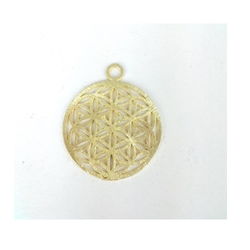 Gold Plated Brushed Sacred Seed Charm Pendant