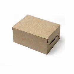 76K Kraft 7X7X3 Cake Box