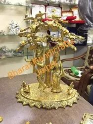 Metal Gold Finish Radha Krishna