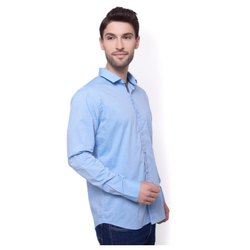 Button Cotton Mens Formal Shirts, Machine wash, Size: 32-42