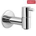 Stainless Steel Somany Smart Bib Cock With Wall Flange