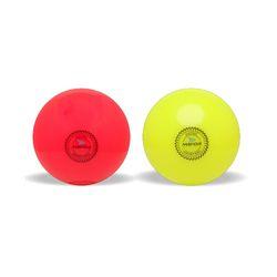 Mayor Hot Pink & Flo Yellow Astro Plain Hockey Ball