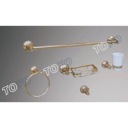Golden Aluminum Bath Set