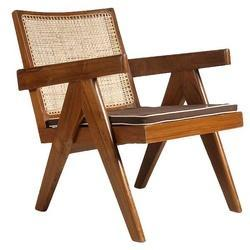 Replica Le Corbusier Pierre Jeanneret Solid Teak Living Room Chair