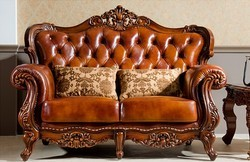 Charming Wooden Carved Sofa Set