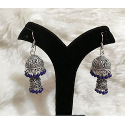 Oxidized German Silver Long Jhumki