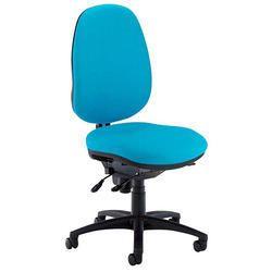Armless Office Blue Chair