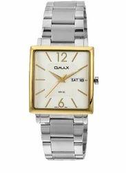 OMAX Analog White Dial Men's Watch - SS386