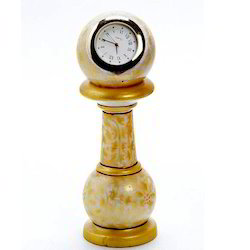 Marble Pillar Watch with Gold Work