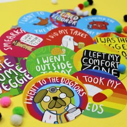 Round Colorful Sticker Service
