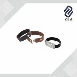 Customize Leather Bracelet Pen Drive