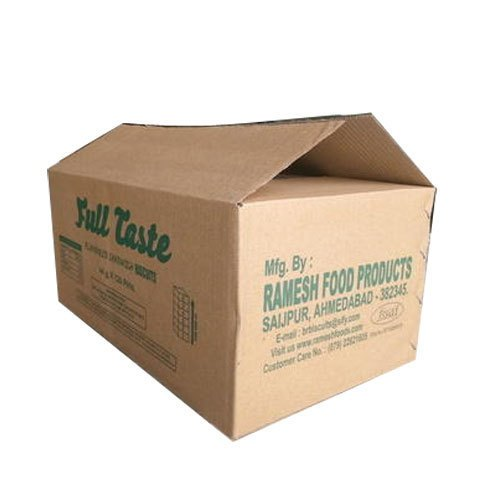Corrugated Paper Sheets Brown Food Packaging Corrugated Box