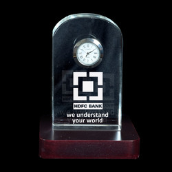 3D Crystal Personalized Corporate Gift (3D-Clock-B)