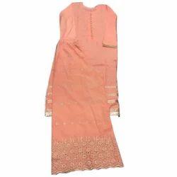 Fancy Cotton Palazzo Suit