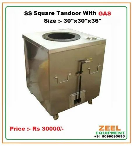 SS Square Gas Tandoor
