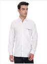 White Slim Fit Cotton Casual Shirts for Men