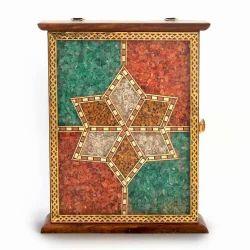 Wooden Gemstone Key Box